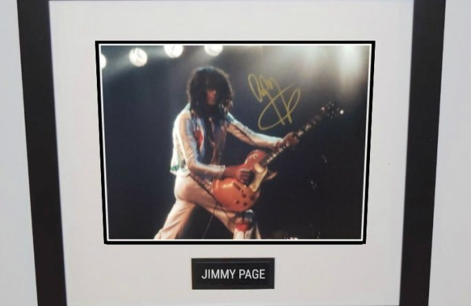 #7-Jimmy Page Signed 8×10 Photograph