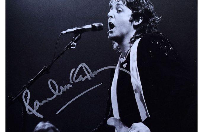 #13-Paul McCartney Signed 8×10 Photograph