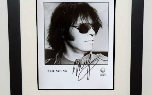 #3-Neil Young Signed 8×10 Photograph