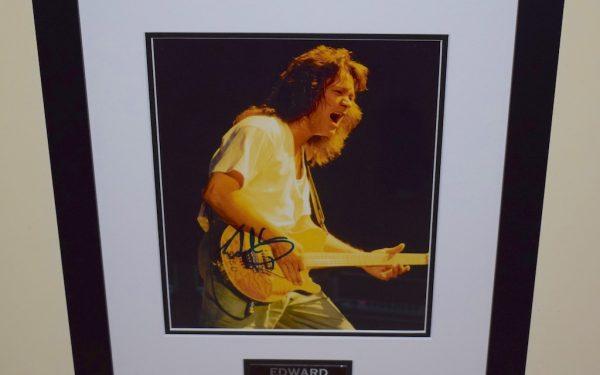 #13-Eddie Van Halen Signed 8×10 Photograph