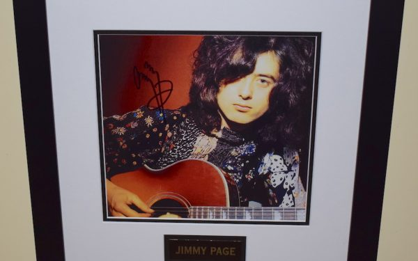 #5-Jimmy Page Signed 8×10 Photograph