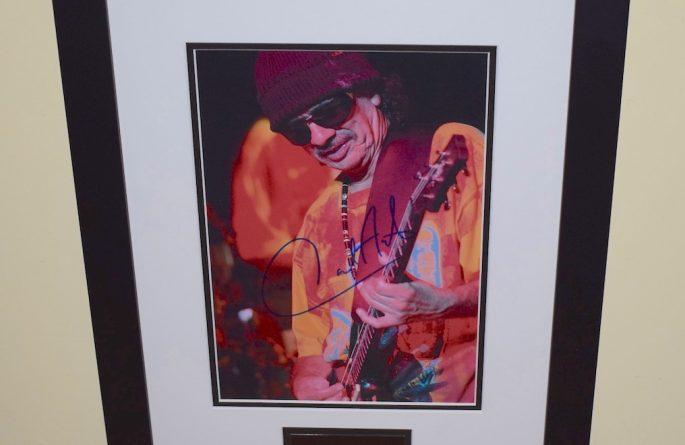 #5-Santana Signed 8×10 Photograph
